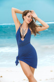 Mapale Spaghetti Strap Halter Dress