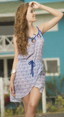 Mapale Blue and White Print Dress