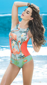 Mapale Flamingo Print One Piece Swimsuit