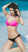 Mapale Black and Pink Two Piece Swimsuit