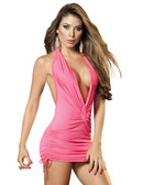 Mapale Halter Style Mini Dress - Pink
