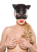 Allure Lingerie Faux Leather Cat Mask