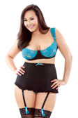 Fantasy Lingerie Underwire Bra with Detachable Gartered High Waist Panty