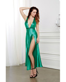 Dreamgirl Holiday Satin Gown w/Removable Jewelled Pin