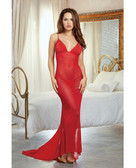 Dreamgirl Holiday Sheer Mesh Gown & G-String