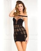 Rene Rofe Big Spender Multi-Net Seamless Dress