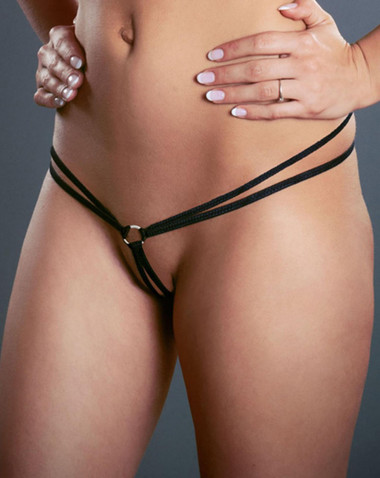 Fearless and Fun Lingerie Double Strap Micro G-String with Ring