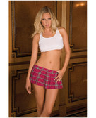 Rene Rofe School Girl Mini Skirt Plaid - Pink