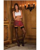 Rene Rofe School Girl Mini Skirt Plaid - Red