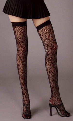 Flower Lace Thigh High Stockings - Each Pair (4729)