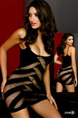 Stretch Spandex Mini Dress w/Curved Open Weave Wrapping - Each Pair (S6447)