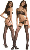 Leaves Lace Tie Top w/String Thong and Matching Thigh Hi - Each Set (S9241)