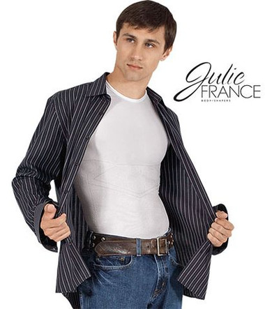 Men's Crew Neck T-shirt Body Support by Julie France (JF021)