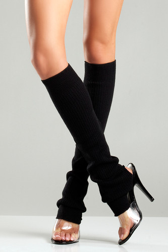 Be Wicked Ribbed Knit Stirrup Leg Warmers
