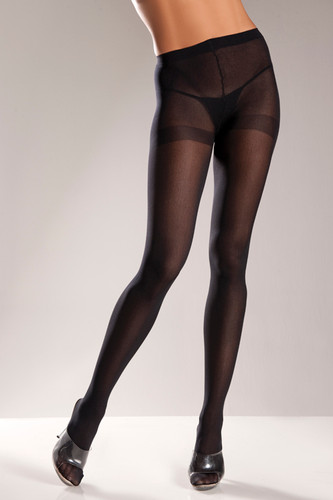 Be Wicked Opaque Pantyhose - Black