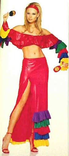 2 pc Samba Girl Chicita Costume (8011)