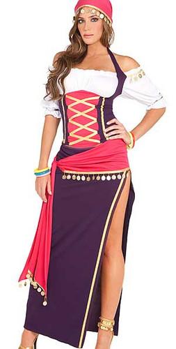 Elegant Moments 5Pc Gypsy Maiden Costume
