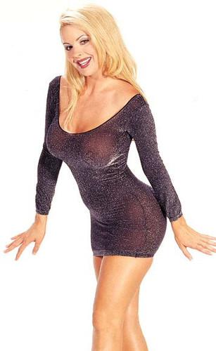 Lurex Metallic Thread Long Sleeve Mini Dress (6030)