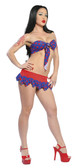Roma Costume 2Pc Top and Skirt Set