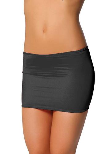 Roma Costume Lycra Mini Skirt - Black