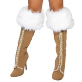 Roma Costume Fur Boot Cover 4240B