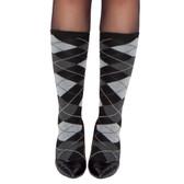 Roma Costume Grey Argyle Leg Warmer