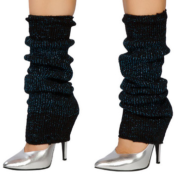 Roma Costume Sparkle Leg Warmer - Black/Blue