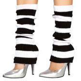 Roma Costume Leg Warmer 107 Black-White