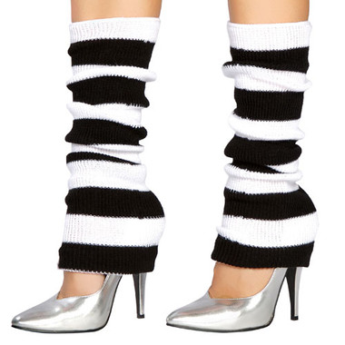Roma Costume Leg Warmer 107 Black-White