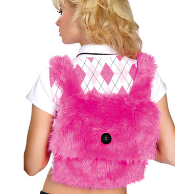 Roma Costume Fur Back Pack - Hot Pink