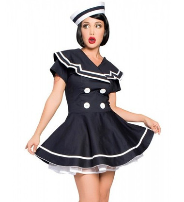 Roma Costume 2Pc Pin-Up Captain
