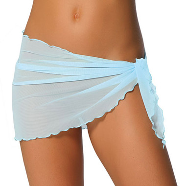 Roma Costume Sheer Short Tie Side Cover-up Wrap