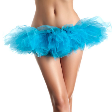 Be Wicked Petticoats- Organza Tutu - Light Blue