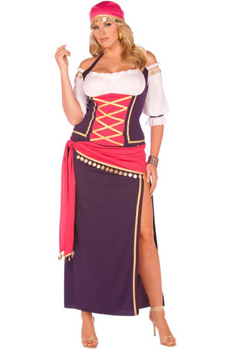Elegant Moments 5Pc Gypsy Maiden Costume Queen Size