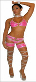 Blue Orchid Exoticwear Glitzy Cage Chap Set