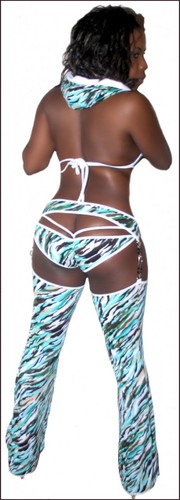 Blue Orchid Exoticwear Dynamite Diva Hoodie Chaps Set