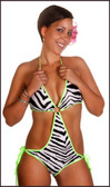 Blue Orchid Exoticwear Dynamite Diva Sugar Kiss Tie Side Romper and Thong