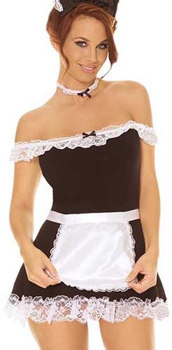 Elegant Moments 4Pc Sexy Maid Costume