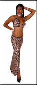 Blue Orchid Exoticwear Anastasia 2 Piece Rhinestone Accent Gown with Thong