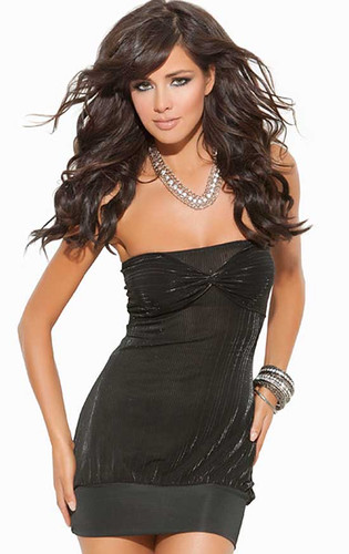 Elegant Moments Strapless Mini Dress With Ruched Bodice