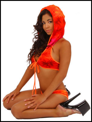 Blue Orchid Exoticwear Hollywood Hoodie with Thong