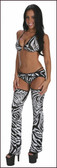 Blue Orchid Exoticwear Classic Chap Set with Thong