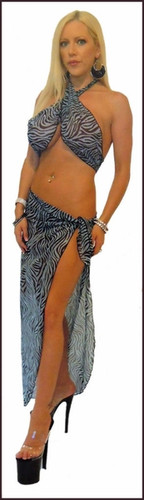 Blue Orchid Exoticwear Sheena Sarong and Scarf Top