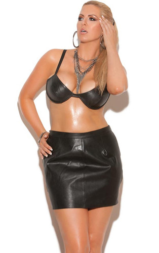 Elegant Moments Leather Spanking Skirt with Adjustable Buckle Closure Queen Size