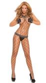Elegant Moments Lycra Diamond Net Bodystocking Queen Size