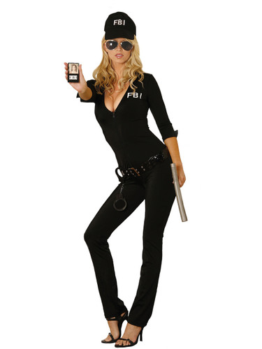 Elegant Moments 7Pc Sexy FBI Agent Costume