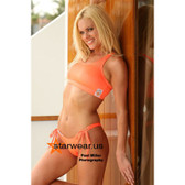 Starwear USA Globular Sport Bra Top and 6 Style Bottom - Neon Orange
