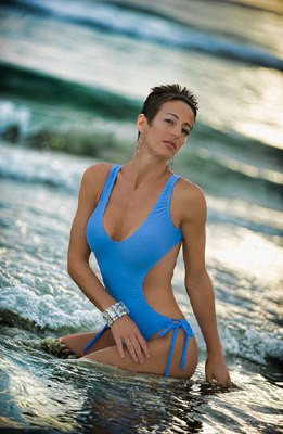 Starwear USA Lyra Cut Out Side Tank Font Bikini Back One Piece Swimsuit - Periwinkle