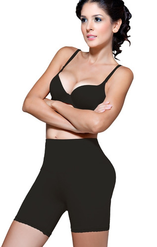 Vedette Dominique Mid-Thigh Panty Short Body Shaper - Black