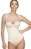 Vedette Nadine Strapless Bodysuit Bikini - Nude